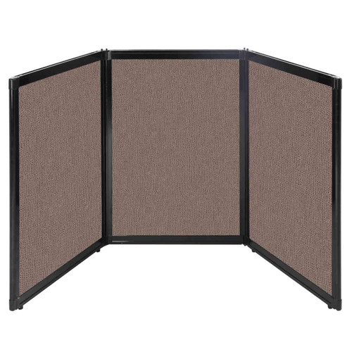"Folding Tabletop Display 78"" x 36"" Latte Fabric"