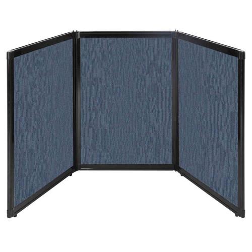 "Folding Tabletop Display 78"" x 36"" Ocean Fabric"
