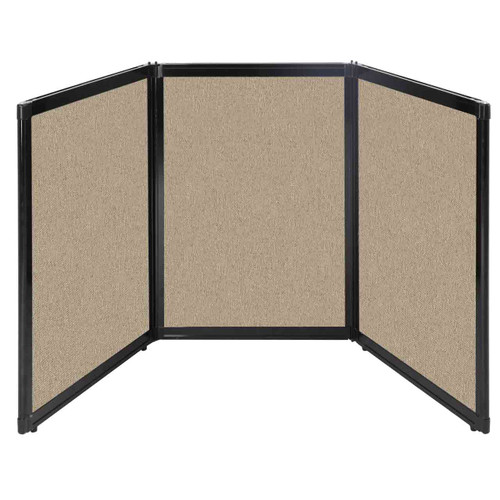"Folding Tabletop Display 78"" x 36"" Rye Fabric"