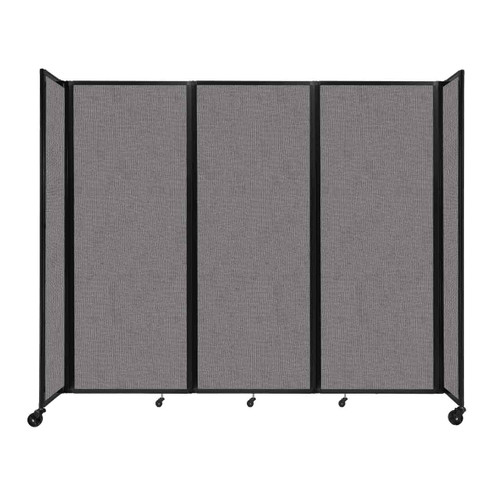 """Room Divider 360 Folding Portable Partition 8'6"""" x 7'6"""" Slate Fabric"""
