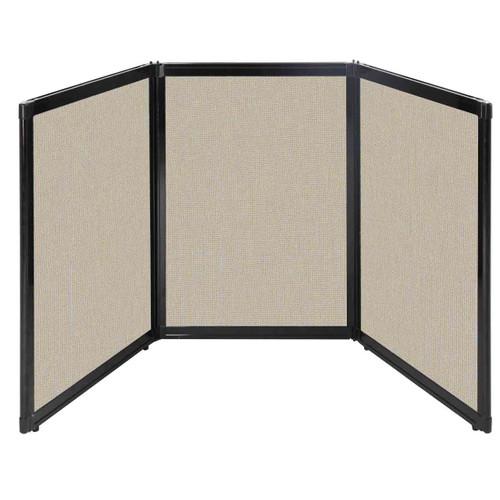"Folding Tabletop Display 78"" x 36"" Sand Fabric"