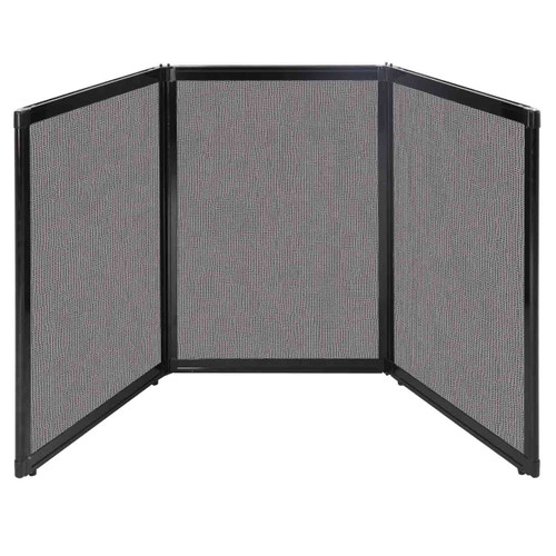 "Folding Tabletop Display 78"" x 36"" Slate Fabric"