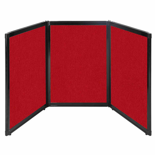 """Folding Tabletop Display 78"""" x 36"""" Red Fabric"""