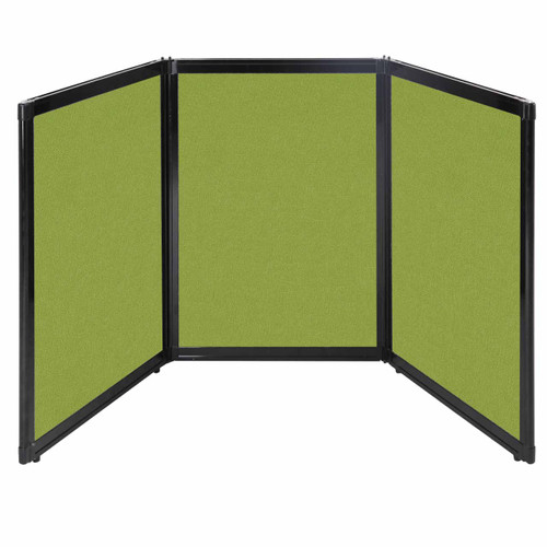 "Folding Tabletop Display 78"" x 36"" Lime Green Fabric"