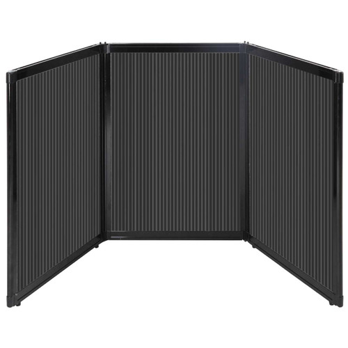 "Folding Tabletop Display 78"" x 36"" Dark Gray Polycarbonate"