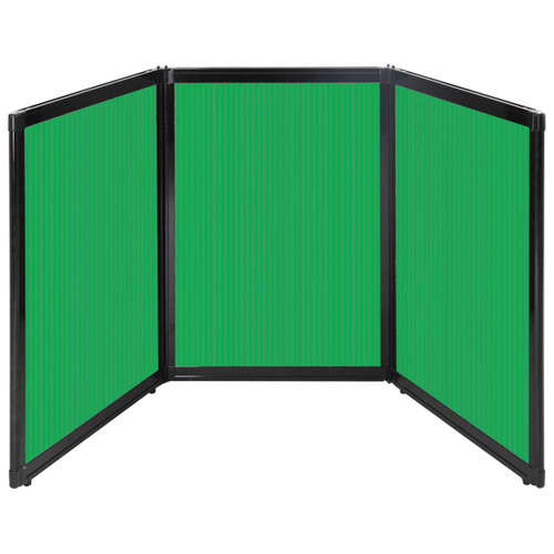 "Folding Tabletop Display 78"" x 36"" Green Polycarbonate"