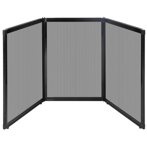 "Folding Tabletop Display 78"" x 36"" Light Gray Polycarbonate"