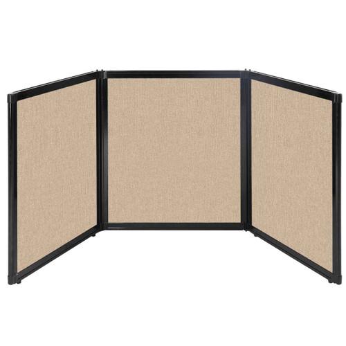 "Folding Tabletop Display 99"" x 36"" Beige Fabric"