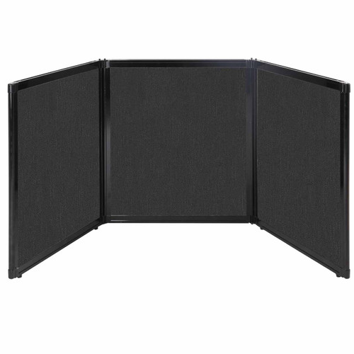 "Folding Tabletop Display 99"" x 36"" Black Fabric"