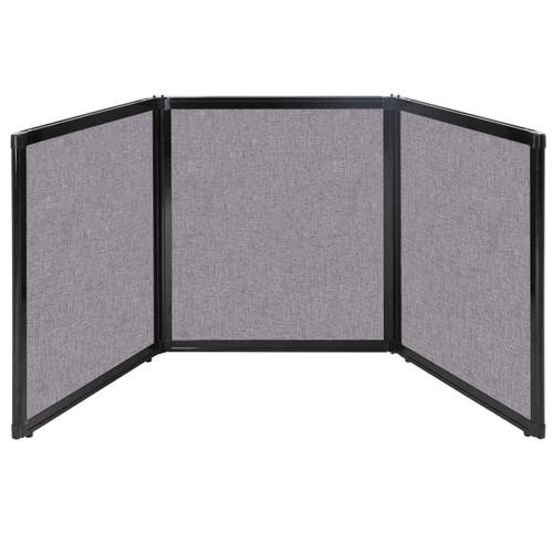 "Folding Tabletop Display 99"" x 36"" Cloud Gray Fabric"