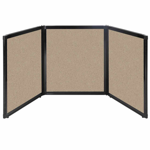 "Folding Tabletop Display 99"" x 36"" Rye Fabric"