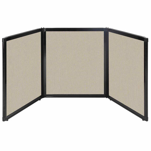 "Folding Tabletop Display 99"" x 36"" Sand Fabric"