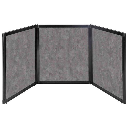 "Folding Tabletop Display 99"" x 36"" Slate Fabric"