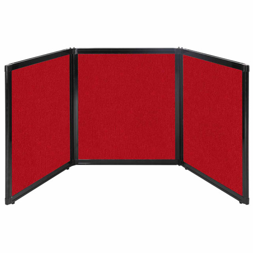 """Folding Tabletop Display 99"""" x 36"""" Red Fabric"""