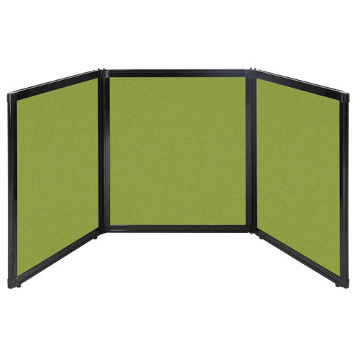 "Folding Tabletop Display 99"" x 36"" Lime Green Fabric"