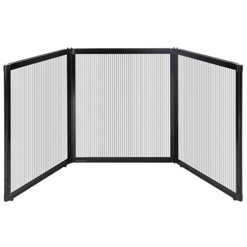 """Folding Tabletop Display 99"""" x 36"""" Clear Polycarbonate"""