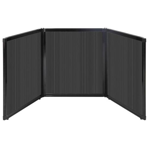 "Folding Tabletop Display 99"" x 36"" Dark Gray Polycarbonate"