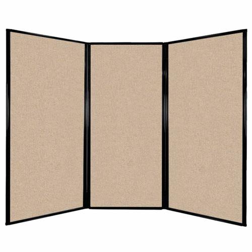 "Privacy Screen 7'6"" x 5'10"" Beige Fabric"