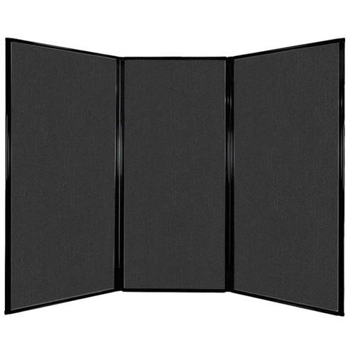 "Privacy Screen 7'6"" x 5'10"" Black Fabric"