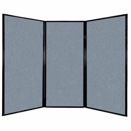 "Privacy Screen 7'6"" x 5'10"" Powder Blue Fabric"