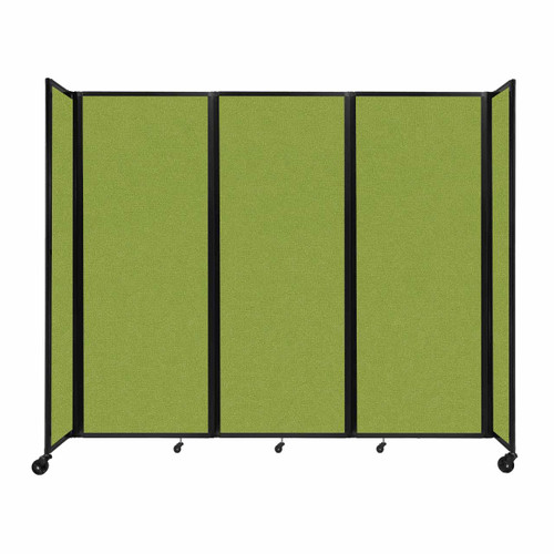 """Room Divider 360 Folding Portable Partition 8'6"""" x 7'6"""" Lime Green Fabric"""