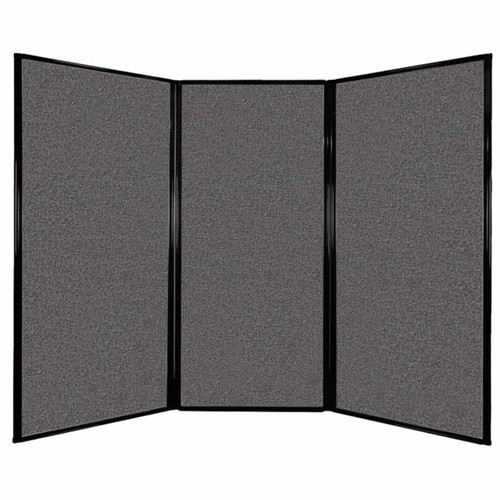 """Privacy Screen 7'6"""" x 5'10"""" Charcoal Gray Fabric"""
