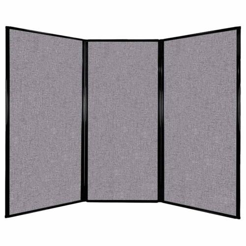 "Privacy Screen 7'6"" x 5'10"" Cloud Gray Fabric"