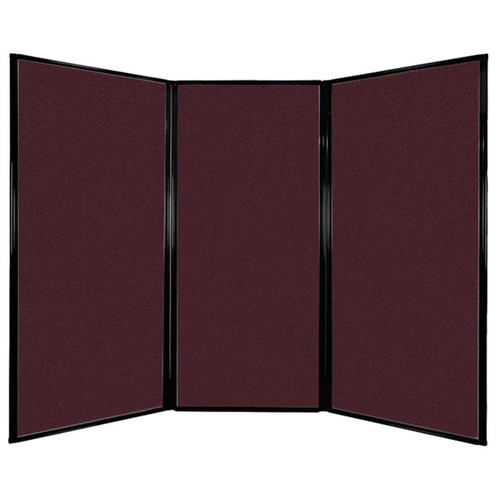 "Privacy Screen 7'6"" x 5'10"" Cranberry Fabric"