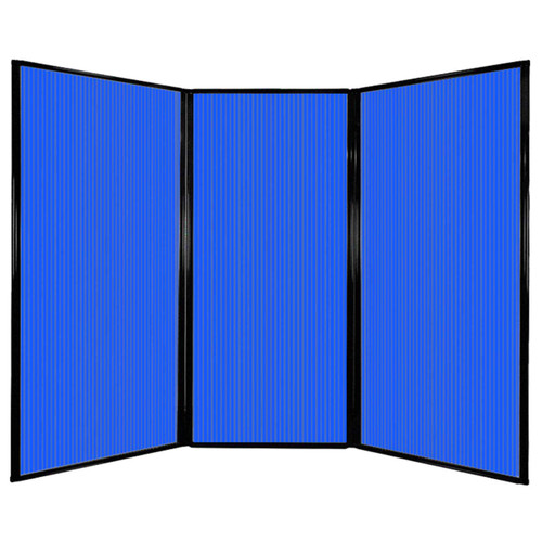 "Privacy Screen 7'6"" x 5'10"" Blue Poly Polycarbonate"
