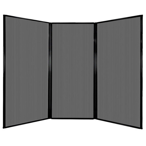 "Privacy Screen 7'6"" x 5'10"" Dark Gray Poly Polycarbonate"