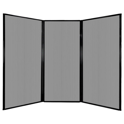 "Privacy Screen 7'6"" x 5'10"" Light Gray Poly Polycarbonate"