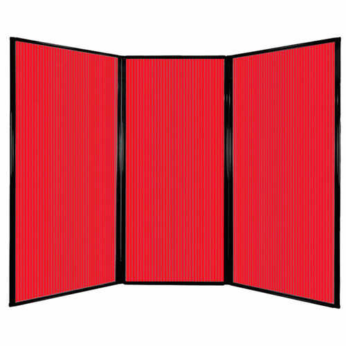 "Privacy Screen 7'6"" x 5'10"" Red Poly Polycarbonate"