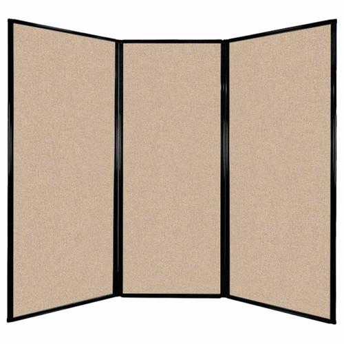 "Privacy Screen 7'6"" x 6'8"" Beige Fabric"
