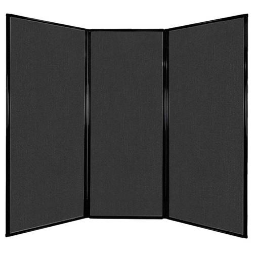"Privacy Screen 7'6"" x 6'8"" Black Fabric"
