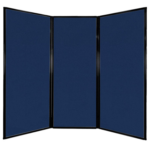 """Privacy Screen 7'6"""" x 6'8"""" Navy Blue Fabric"""