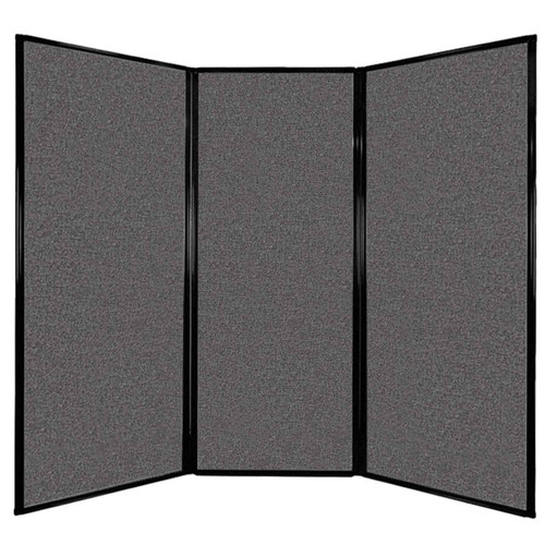 """Privacy Screen 7'6"""" x 6'8"""" Charcoal Gray Fabric"""