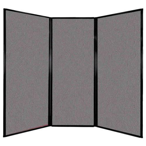 "Privacy Screen 7'6"" x 6'8"" Slate Fabric"