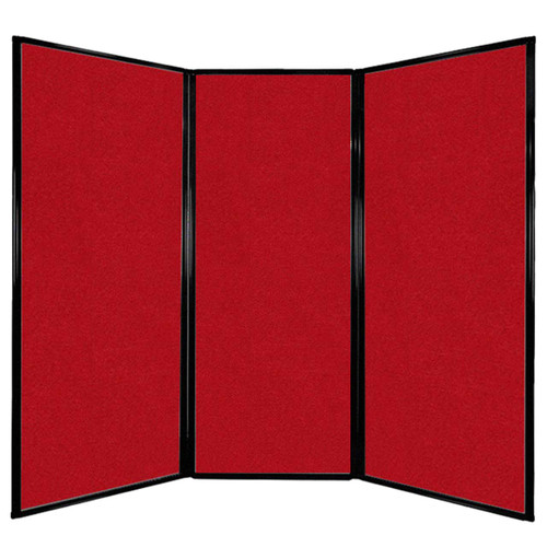 "Privacy Screen 7'6"" x 6'8"" Red Fabric"
