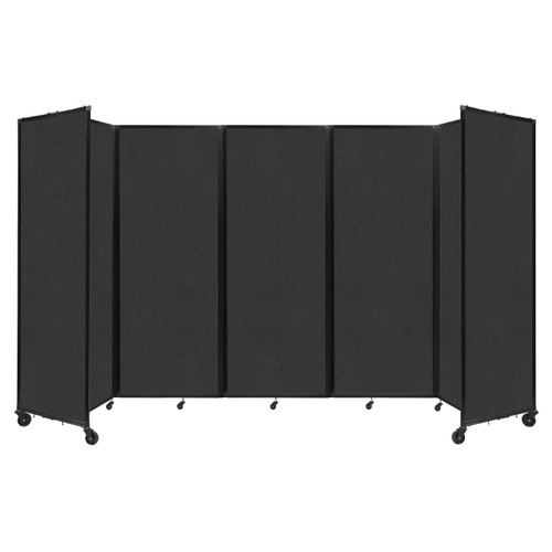 """Room Divider 360 Folding Portable Partition 14' x 7'6"""" Black Fabric"""
