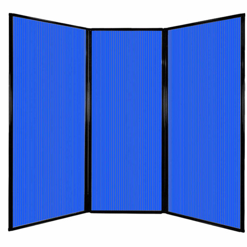 "Privacy Screen 7'6"" x 6'8"" Blue Poly Polycarbonate"