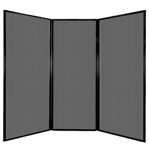 """Privacy Screen 7'6"""" x 6'8"""" Dark Gray Poly Polycarbonate"""