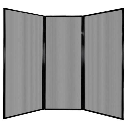 "Privacy Screen 7'6"" x 6'8"" Light Gray Poly Polycarbonate"
