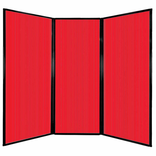 """Privacy Screen 7'6"""" x 6'8"""" Red Poly Polycarbonate"""
