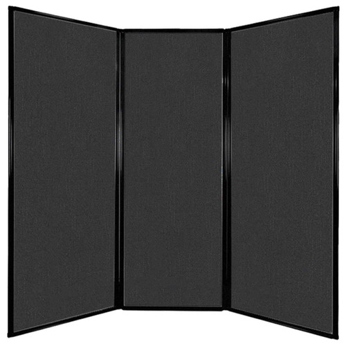 "Privacy Screen 7'6"" x 7'4"" Black Fabric"