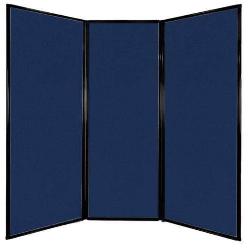 """Privacy Screen 7'6"""" x 7'4"""" Navy Blue Fabric"""