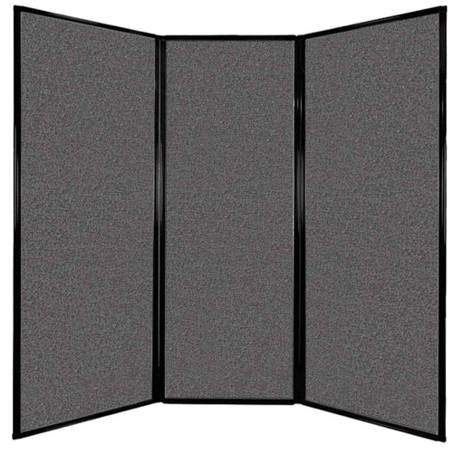 """Privacy Screen 7'6"""" x 7'4"""" Charcoal Gray Fabric"""