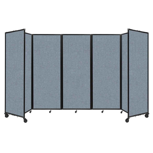 """Room Divider 360 Folding Portable Partition 14' x 7'6"""" Powder Blue Fabric"""
