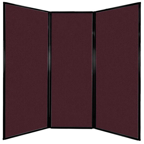 "Privacy Screen 7'6"" x 7'4"" Cranberry Fabric"