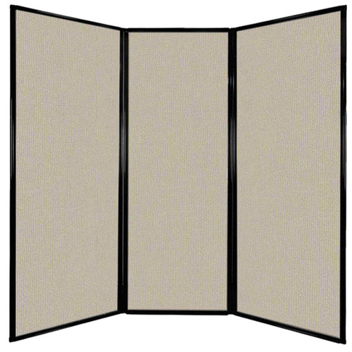 """Privacy Screen 7'6"""" x 7'4"""" Sand Fabric"""
