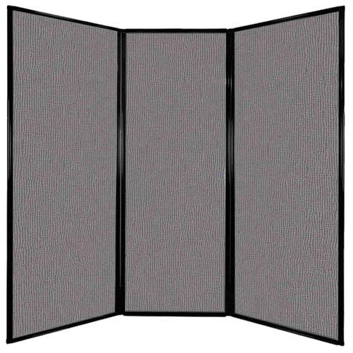 "Privacy Screen 7'6"" x 7'4"" Slate Fabric"